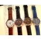 Reloj Pulsera de Hombre Resistente al Agua Estilo PU Quartz Análogo - Colores Surtidos