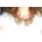 빈티지 스타일의 청동 빈 금속 꽃 모양 목걸이 숨 막히게하는 것 수도꼭지 목걸이