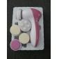 5in1 multifunctionele nagelriem remover gezicht poriën schoner & gezichtsbehandeling stimulator met 5 kop (werkt op 2 AA-batterij)