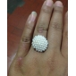 OLL Mushroom And White Pearl Opening Ring