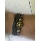 Z&x® 8 лепесток цветка крест заклепки кожаный браслет