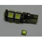 Bec LED Lumină Albă T10 9 SMD