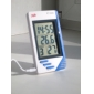 KT-908 LCD Display Digital Thermometer Hygrometer Clock Temperature Humidity Tester Meter Portable