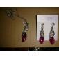 lureme®shining горный хрусталь с кристально шляпе ожерелье (ассорти цветов)