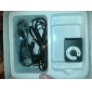 TF Card Reader MP3 Player Bag Shape with Clip Black