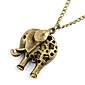 Antique Copper Hollow-Out Elephant Necklace