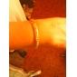"U7® Men's  18K Gold Plated Figaro Chunky Bracelets 5MM 21CM With ""18K"" Stamp High Quality"