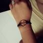 Eruner®Unique Metal Peace Sympol Leather Bracelet(Random Colors)