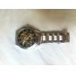 Masculino Relógio Esqueleto relógio mecânico Gravação Oca Automático - da corda automáticamente Aço Inoxidável Banda Luxuoso Prata