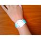 여성의 재미 캡슐 규모의 사탕 젤리 밴드 석영 손목 시계 (모듬 색상)