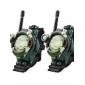 se stil walkie talkie med forstørrelsesglass, lys og kompass
