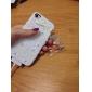 Estilo bowknot doce e Lace Covered Hard Case com adesivo de unha para iPhone 4/4S (cores sortidas)