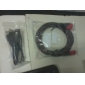 USB 2.0 A Male to A Female Extension Cable (Black) 0.8M