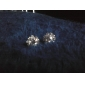 Stud Earrings Basic Simple Style Fashion Crystal Zircon Cubic Zirconia Imitation Diamond Flower Sunflower Jewelry For Daily Wedding Party