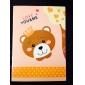 κινουμένων σχεδίων σειρά αρκούδα μικρό σημειωματάριο (τυχαία χρώμα)