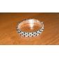 Fashion 5Cm Women'S Black And White Crystal Tennis Bracelet(Black And White)(1 Pc)
