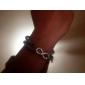 Мода Infinite ПУ Wrap браслет (случайный цвет)
