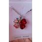 Жен. Ожерелья с подвесками Четырехлистный клевер Хрусталь Стразы Платиновое покрытие Сплав Базовый дизайн Мода Простой стильЖелтый