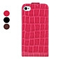 Crocodile Skin Flip-On Style Full Body Case for iPhone 4 and 4S (Assorted Colors)