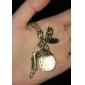 Vintage Crystal Fairy Maiden Collar de la aleación