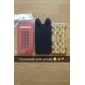 Cute Cat Ear Silicon Soft Case for iPhone 4/4S(Assorted Colors)
