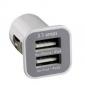 Caricabatterie per auto con doppia porta USB, per iPhone e iPad (bianco)