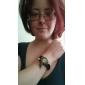 Women's Watch Bohemian Leaf Pendent Leather Weave Bracelet