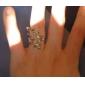 Deixa o anel de diamante em forma