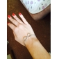 Shixin® Gold Plated Alloy Infinity Charm with an Adjustable String Bracelet