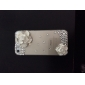 Plastic Zircon Camellia Pattern Hard Case for iPhone 5/5S