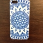 Azul e Branco Porcelana Padrão Hard Case para iPhone4/4S
