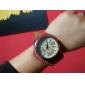 Женские Нарядные часы Модные часы Наручные часы Кварцевый Кожа Группа Красный