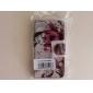 Flores roxas Teste padrão de couro com slot para cartão e suporte para Samsung Galaxy Express 2 G3815