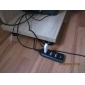4 Port Mini USB 2.0 Hub with 60cm Cable (Black)