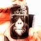 Wear Glasses of Orangutans Pattern PC Hard Case for Samsung Galaxy S3 Mini I8190