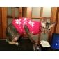 Cães Súeters Vermelho Roupas para Cães Inverno / Primavera/Outono Floco de Neve Mantenha Quente / Natal / Ano Novo