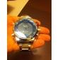 la robe de la montre des hommes weide® montre multifonctions double fuseaux horaires étanches