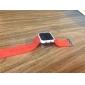 Montre LED Sportive, Cadran Carré, Bracelet en Silicone, Unisexe - Rouge