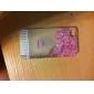 Litchi textura flores e pássaros padrão caixa de plástico rígido para iPhone 4/4S