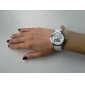 Women's I Love You Pattern White PU Band Quartz Analog Wrist Watch
