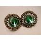 (Royal) Green Alloy Stud Earrings (azul) (1 par)