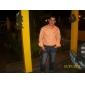 JUBAOLI Hommes Montre Militaire Montre Bracelet Quartz Cuir Bande Kaki Blanc Orange Bleu