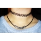 Women's Choker Necklaces Tattoo Choker Circle Flower Acrylic Tattoo Style Fashion European Personalized Costume Jewelry Jewelry For Party