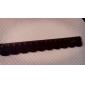 regla de madera del diseño del cordón (negro)