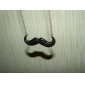 Lureme®Mustache Pendant Long Chain Necklace