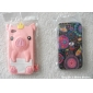 Oil Paint Pattern Silicone Soft Case for iPhone 4/4S