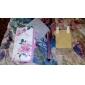 Коко FUN красивый узор розы PU кожаный чехол всего тела ® с пленкой, стенд А Стилус для iPhone 4/4S