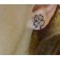 Lucky Four Leaf Clover Silver Earrings