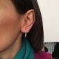 Mulheres Brincos Compridos Básico Estilo simples Moda Prata de Lei Prata Chapeada Caído Jóias Para Festa Diário Casual
