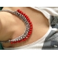 Big Joker Red Drops Necklace